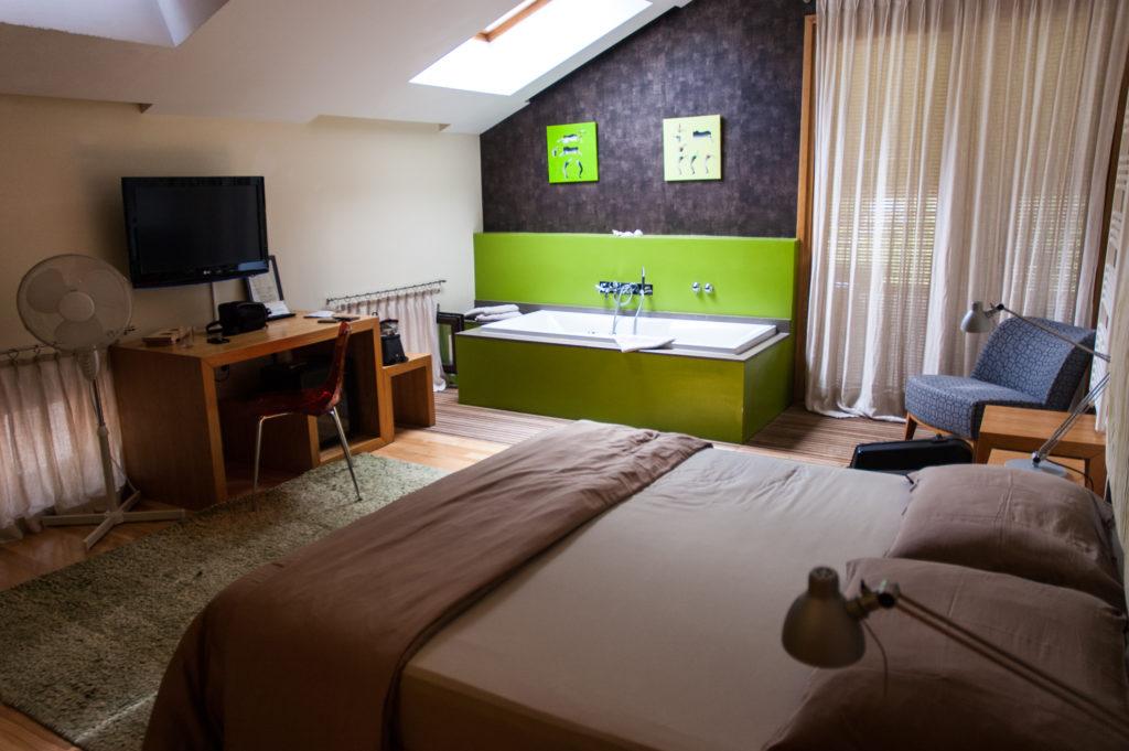 Kamer in het hotel van Hisa Franko, boven het restaurant.